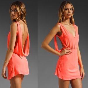 UNIF Christy backless hot pink dress XS